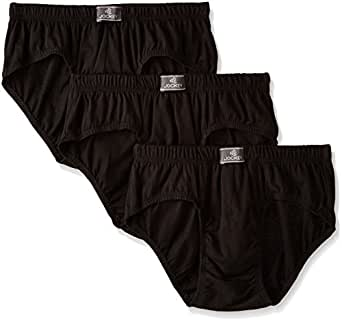Jockey Men's Cotton Brief (Pack of 3) (8901326033081_8035-0310-ASSTD assorted S)