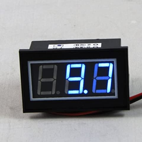 Waterproof Mini Blue LED Digital Volt Meter 4.5v to 30v
