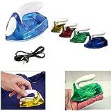 Connectwide® Powerful Mini Travel Iron Light weight Sleek Design Foldable Handle. Power-On Indicator Non Stick Plate. Random 1 pcs