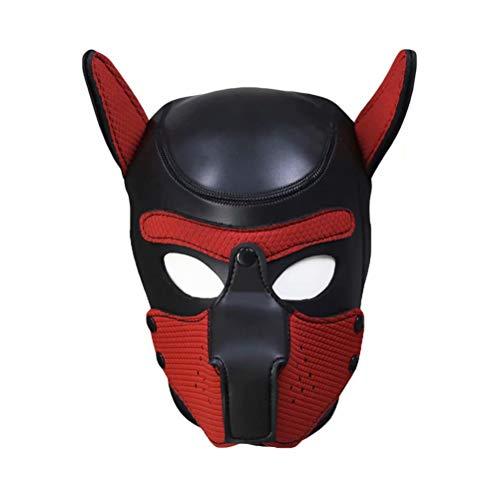 Frecoccialo Erwachsene Unisex Rollenspiel Hund Maske Cosplay Kopf Maske mit Ohren 10 Farbe Paare - Paare Kostüm Lustig