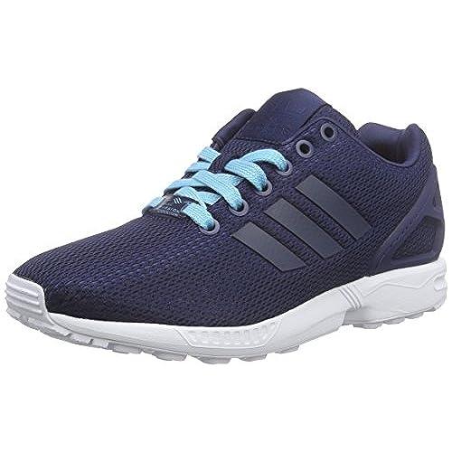 adidas ZX Flux, Sneakers Basses Homme, Bleu (Dark Blue/Dark Blue/Collegiate Purple), 43 1/3 EU (9 UK)