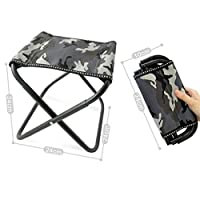 XMZFQ Portable Folding Stool, Camping Stool Heavy Duty 220 lb Folding Chair with Carry Bag for Outdoor Fishing,Hiking,BBQ,Beach and Garden,A
