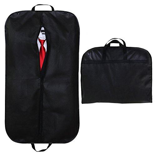 SPARKSOR Kleidersack,Atmungsaktiver Reise Kleidersack mit Tragegriffen und Druckknopfverschlüssen / Stabiler hochwertiger Anzugsack - schwarz - 60 cm * 100 cm (Anzug Kleidersack)