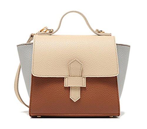 Wer Bin Ich 2017 Neue Handtasche Jian Jie Modehit Farbe Flip Schnalle PU Umhängetasche Diagonal BrownCover