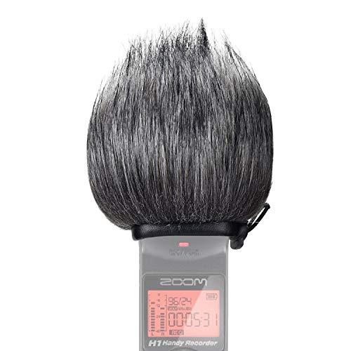 SUNMON - Parabrezza in pelliccia per Zoom H1n & H1 Handy Portable Digital Recorder, Deadcat Fur Pop Filter parabrezza