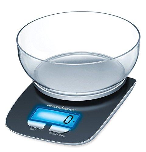 Health Sense Chef-Mate Digital Kitchen Scale (Black)