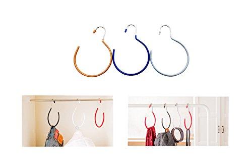 Cinturón percha bufanda corbata gancho Rack soporte Heavy Duty Metal armario almacenamiento organizador accesorio de sombrero de terciopelo antideslizante percha 3unidades