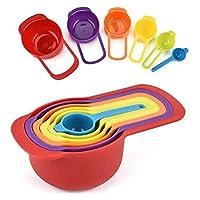Plastic Colorful Measuring Spoon Measuring Cup 6 pcs Set Multi-Function Spoons Kitchen Tools Set