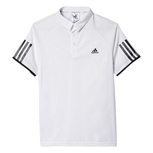 adidas Jungen Oberbekleidung Club Polo Poloshirt, White/Black, 116