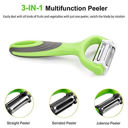 Shop Villa 3-In-1 Rotational Vegetable Peeler, Julienne Slicer And Shredder (Pack Of 1)