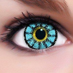 Linsenfinder Lenzera Circle Lenses blaue 'Sweet Blue' ohne und mit Stärke + Kombilösung + Behälter Big Eyes farbige Kontaktlinsen