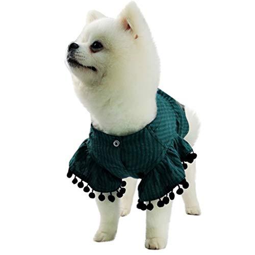 T.boys's Haustier Pet Shirt Kleidung für Kleine Hunde Welpen T-Shirt Super süße Welpen kostüme Frühling und Sommer Atmungsaktiv Einfache Fliegende Hülse Hemd (Green, XS) (Sun-kleid Hunde Für)