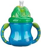 Nûby ID9845BLUE Auslaufsichere Trinkhalmtasse - 240 ml, blau - Ab 12 Monate