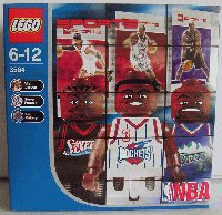 3564 BAKET NBA Allen Iverson, Steve Francis and Karl Malone