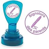 Signature des parents: Enseignant Auto-encreur Tampon de Marquage. 22mm, Encre Violet