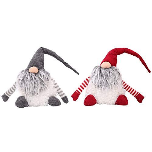 Yalatan 1 Pcs Weihnachten niedliche dekorative Puppen, Tomte/Nisse schwedischen Land Gott Weihnachtsschmuck 30 * 30cm