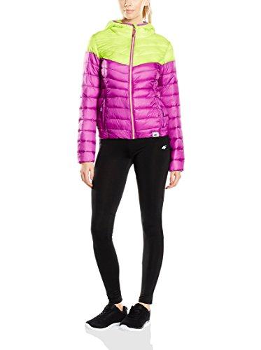 4F piumino da donna, invernale, giacca per il tempo libero/trapuntata mod. KUD003 - violett / limon