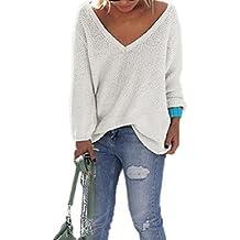 Vovotrade 2016 Automne Nouveaux Femmes Long tricot à manches Pull ample Sweater Pull Tops Tricots