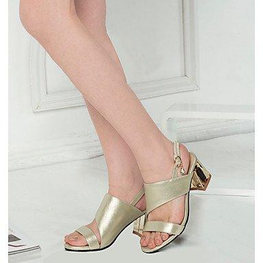 LvYuan Damen-Sandalen-Kleid Lässig Party & Festivität-PU-Blockabsatz-Andere-Grün Rosa Gold Gold