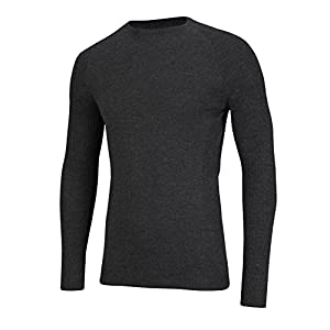 41hotgz4crL. SS300  - SUB ZERO Mens Merino Wool Thermal Insulated Totally Seamless Mid Layer Long Sleeve Round Neck Top