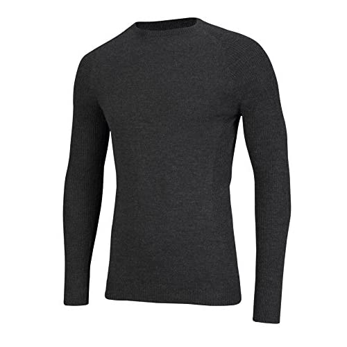 41hotgz4crL. SS500  - SUB ZERO Mens Merino Wool Thermal Insulated Totally Seamless Mid Layer Long Sleeve Round Neck Top