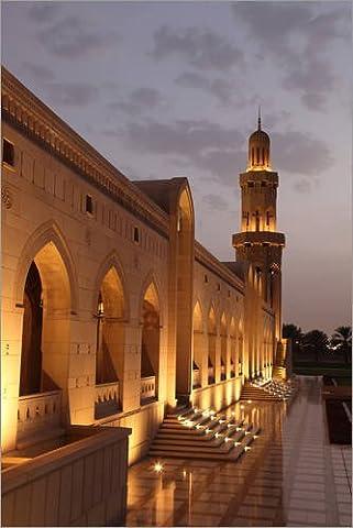 Wood print 60 x 90 cm: Sultan Qaboos Grand Mosque by Colourbox
