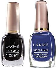 Lakme Insta Eye Liner, Black, 9ml & Lakmé Insta Eye Liner, Blue, 9 ml