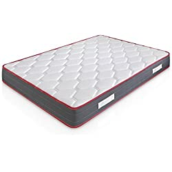 Matelas Ergo-Therapy 180X200 à mémoire de Forme | 18 cm Épaisseur | 2 cm de Mousse à mémoire de Forme de 65 kg/m3 | Foam AirSistem | Extrêmement Durable | Certification ISO 9001®