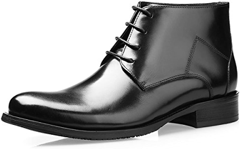 GRRONG Herren Winter Mode Geschäft Hohe StiefelGRRONG Herren Geschäft Stiefel Black 39 Billig und erschwinglich Im Verkauf