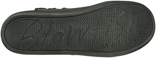 Unbekannt Damen Rabitt Biker Boots Schwarz (Black)