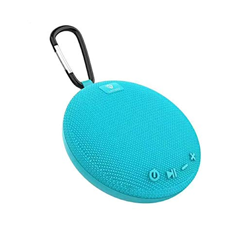 WangLx speakers Bluetooth-Lautsprecher Mit Lanyard Outdoor Tragbarer Fahrrad-Subwoofer TWS Doppelte Verbindung Drahtlose Runde Computer-Lautsprecher Kleine und Bequeme Freisprecheinrichtung, Blue (Computer-lautsprecher-runde)