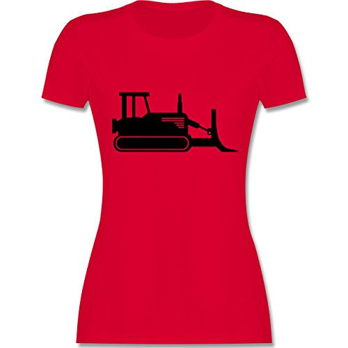 Andere Fahrzeuge - Raupenfahrzeug - tailliertes Premium T-Shirt mit Rundhalsausschnitt für Damen Rot