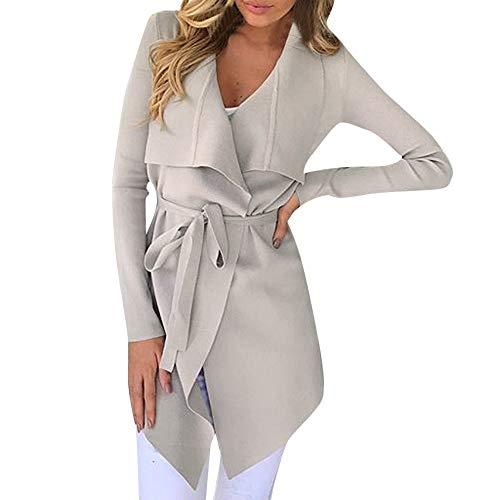 Somesun capispalla per giacca sportiva aperta da donna a manica lunga con maniche lunghe cappotto cardigan irregolare casual prime eleganti cotone lino cappotti invernali vintage