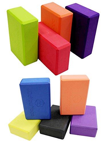 Yogablock »Aruna« / Sehr leichter Hartschaum Yoga-Block, zur Unterstützung spezieller Yoga-Übungen. grün