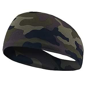 SKUDGEAR Yoga Sport Sweat Absorbent Headband for Men (Camouflage)
