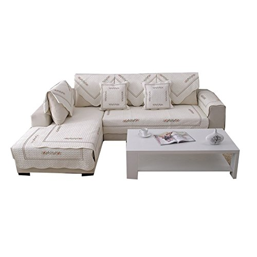 Copridivano salvadivano per divano con penisola/elasticizzato divano copertine slipcovers copertura sedile mobili protector -1 pezzo-a 110x110cm(43x43inch)