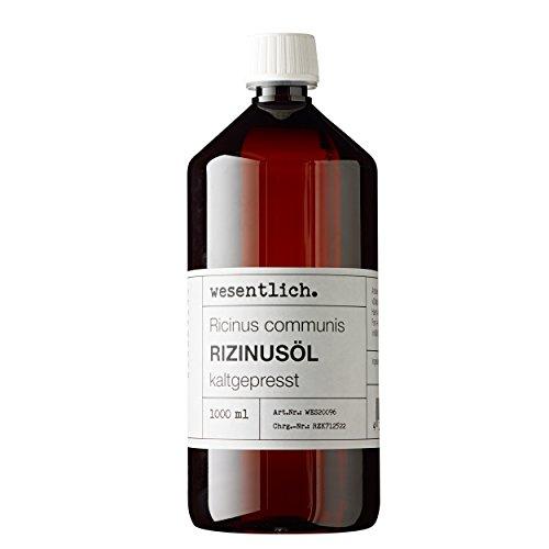 Rizinusöl kaltgepresst 1000ml - 100% reines Rizinusöl (Ricinus communis) von wesentlich.