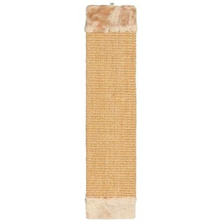 Trixie 43073 Kratzbrett mit Plüsch, 15 × 62 cm, beige/braun