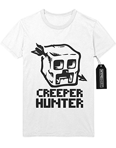 "T-Shirt Minecraft ""CREEPER HUNTER"" Z100047 Weiß"