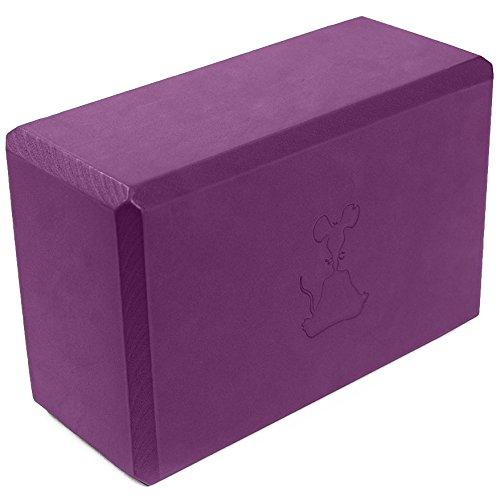 """YogaRat Bloc de yoga, violet, 9"""" x 6"""" x 4"""""""