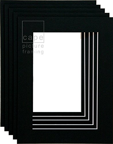 picture-mounts-a5-overall-size-with-equal-25mm-borders-black-white-core-by-cape-picture-framing