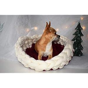 Chunky Wool Hunde/Katzenbett 100% Merinowolle