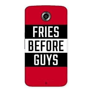 Neo World Fries Before Guys Back Case Cover for Motorola Nexus 6