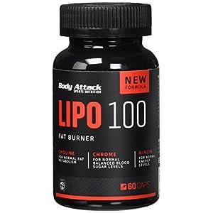 Body Attack Lipo 100 Fatburner –  60 Kapseln, 1er Pack (1 x 51 g)