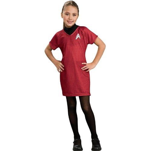 Star Trek Uhura Kleid für Mädchen - L - (Kostüm Trek Star Mädchen)