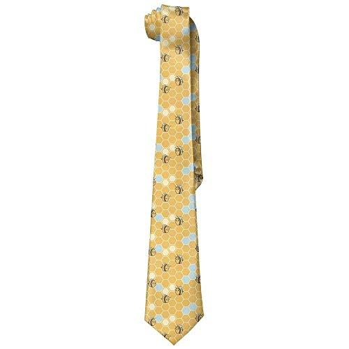 fengxutongxue Men Cute Bees Nest Polyester Silk Business Gentleman Tie Necktie Gift Box