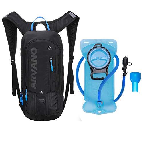 Zaino da minigonna da bicicletta 6L impermeabile,Jarvan pacchetto idratazione con zaino da 2L Zaino da ciclismo da sci ciclismo da sci, zaino leggero da spalla traspirante per sport all'aria aperta