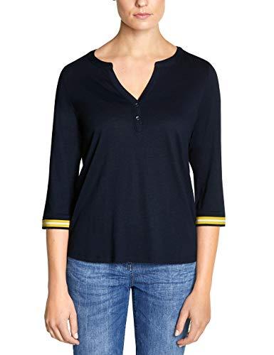 Cecil Damen 313887 T-Shirt, deep Blue, Large (Herstellergröße:L)