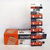 MAXELL 10PIECES Lr41 Ag3 Lr736 392 392a 192 Sr41 BUTTON COIN CELL BATTERY