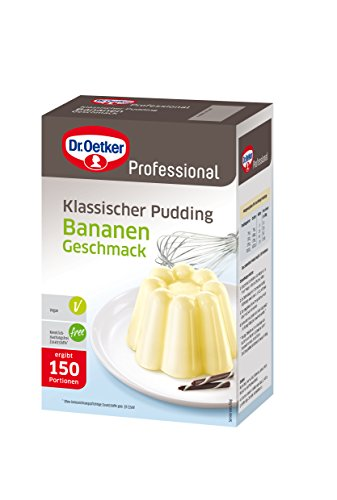 Dr. Oetker Professional Klassischer Pudding Bananen-Geschmack, 1er Pack (1 x 1 kg)